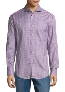 Brunello Cucinelli Slim-Fit Checkered Cotton Button-Down Shirt