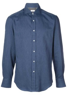 Brunello Cucinelli slim-fit denim shirt