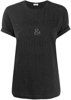 Brunello Cucinelli slogan embroidered T-shirt
