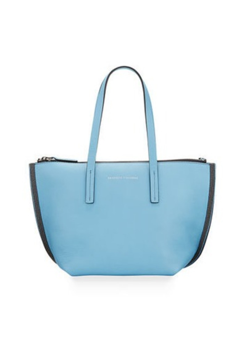 Brunello Cucinelli Small Zip Tote Bag With Monili  Side Details