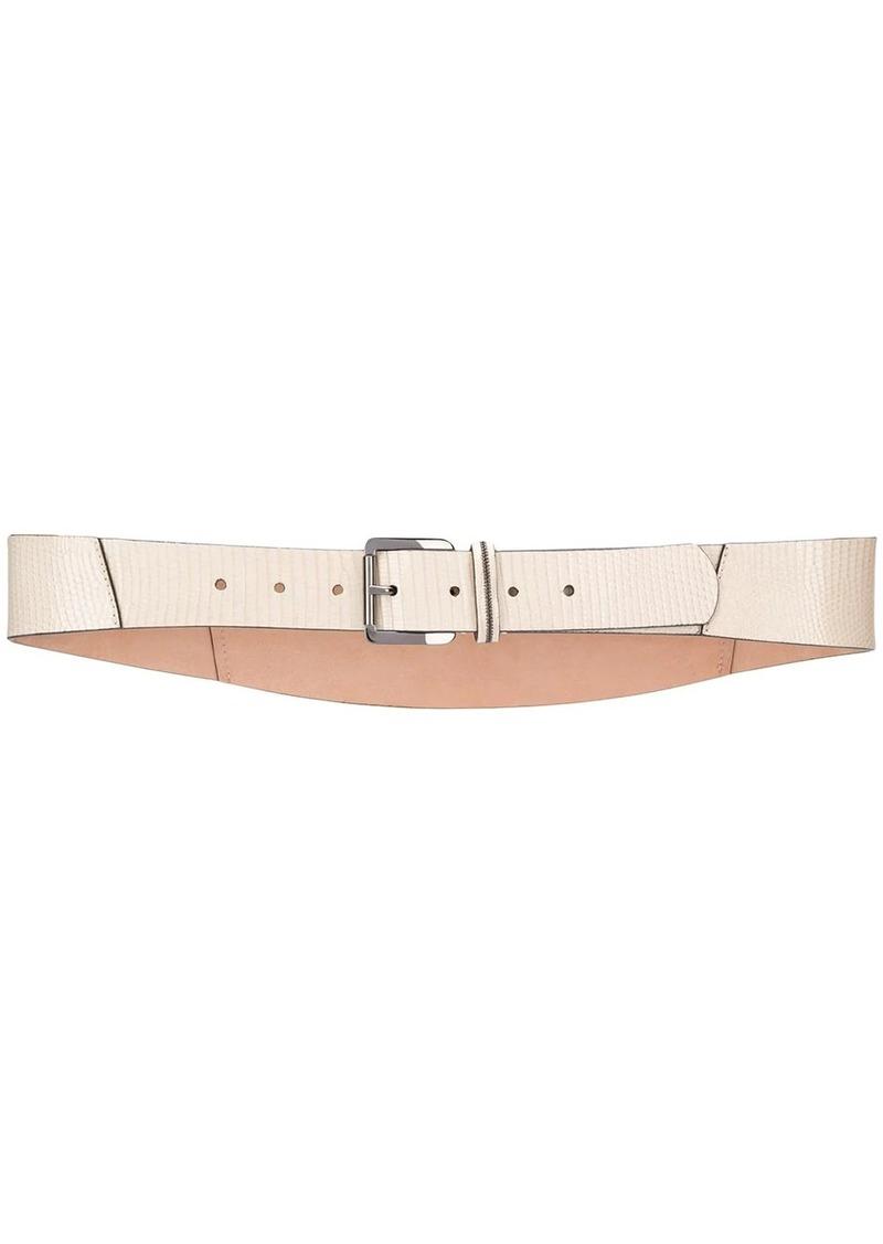 Brunello Cucinelli snake embossed belt