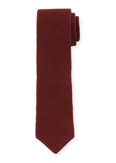 Brunello Cucinelli Solid Silk Knit Tie