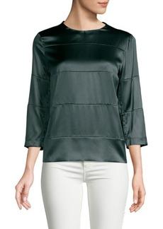 Brunello Cucinelli Solid Stretch-Silk Top