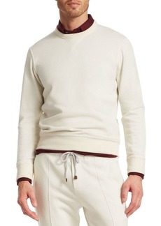 Brunello Cucinelli Spa Rib-Trimmed Sweatshirt
