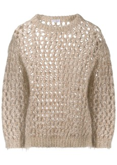 Brunello Cucinelli sparkling net sweater