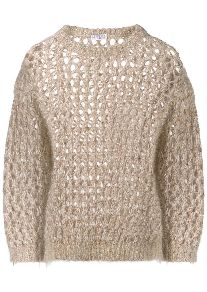 Brunello Cucinelli sparkling net sweater