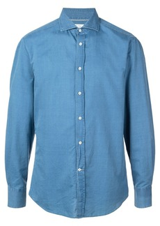 Brunello Cucinelli spread collar shirt