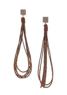Brunello Cucinelli Sterling Silver, Hematite, Pyrite & Goldtone Beaded Loop Earrings