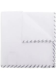 Brunello Cucinelli stitched pocket square