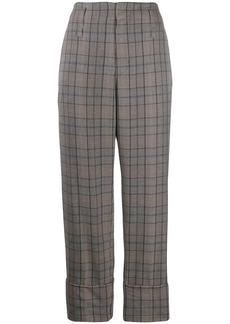 Brunello Cucinelli straight leg checked trousers