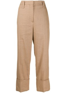 Brunello Cucinelli straight leg cropped trousers