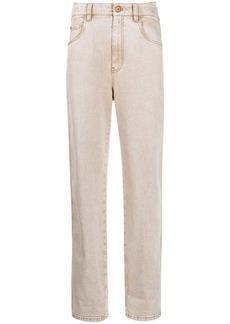 Brunello Cucinelli straight-leg stonewashed jeans