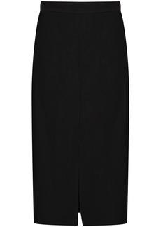 Brunello Cucinelli front slit midi skirt
