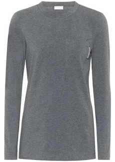 Brunello Cucinelli Stretch-cotton top