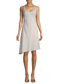 Brunello Cucinelli Stretch-Silk Asymmetric Dress