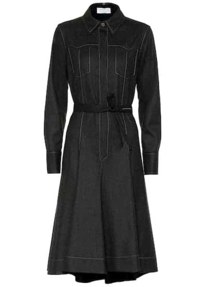 Brunello Cucinelli Stretch-wool shirt dress