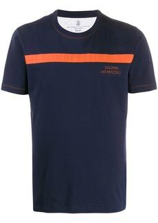 Brunello Cucinelli stripe detail crew-neck T-shirt