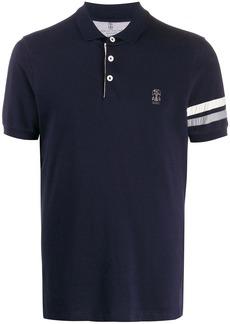 Brunello Cucinelli stripe detail logo polo shirt