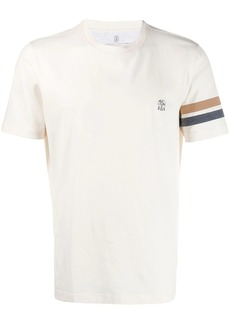 Brunello Cucinelli stripe detail T-shirt