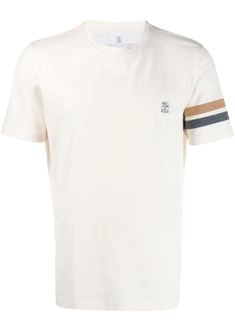 Brunello Cucinelli stripe detail T-shirt