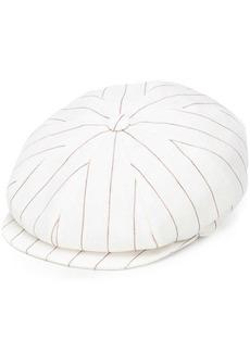 Brunello Cucinelli stripe paper boy hat