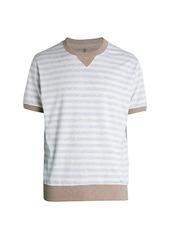 Brunello Cucinelli Stripe Piqué T-Shirt