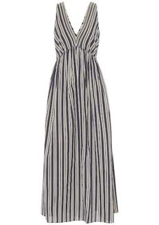 Brunello Cucinelli Striped cotton and silk dress