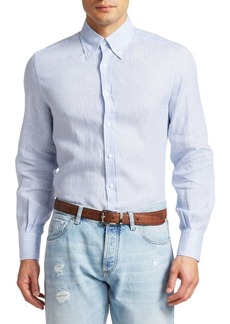 Brunello Cucinelli Striped Cotton Sport Shirt
