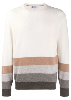 Brunello Cucinelli striped detail jumper