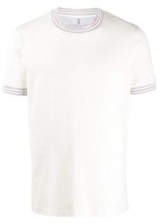 Brunello Cucinelli striped details T-shirt