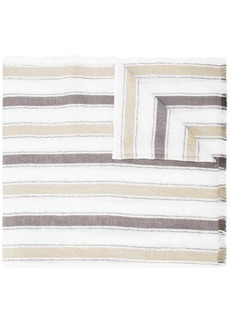 Brunello Cucinelli striped frayed scarf