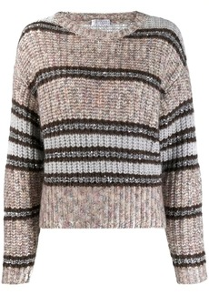 Brunello Cucinelli striped knit jumper