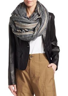 Brunello Cucinelli Striped Linen & Cotton Scarf