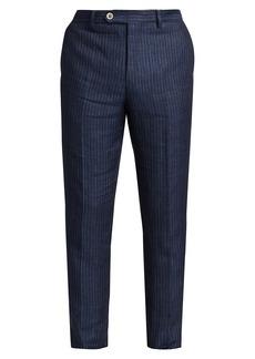 Brunello Cucinelli Striped Linen Trousers