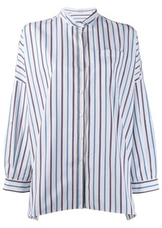 Brunello Cucinelli striped oversized shirt