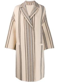 Brunello Cucinelli striped print coat