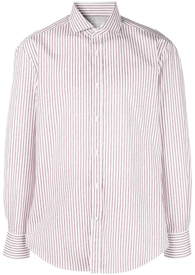 Brunello Cucinelli striped print shirt