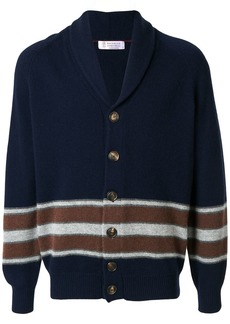 Brunello Cucinelli striped shawl cardigan