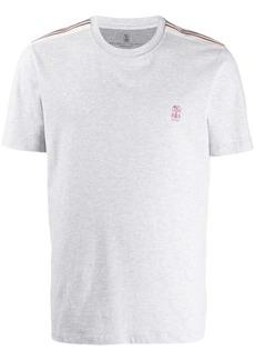 Brunello Cucinelli striped shoulders T-shirt
