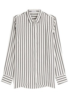 Brunello Cucinelli Striped Silk Blouse