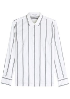 Brunello Cucinelli Striped Silk Shirt