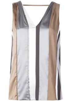Brunello Cucinelli striped sleeveless top
