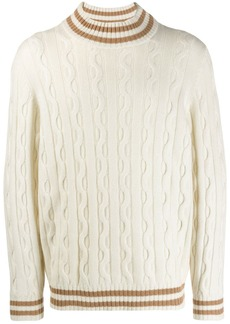 Brunello Cucinelli striped trim jumper