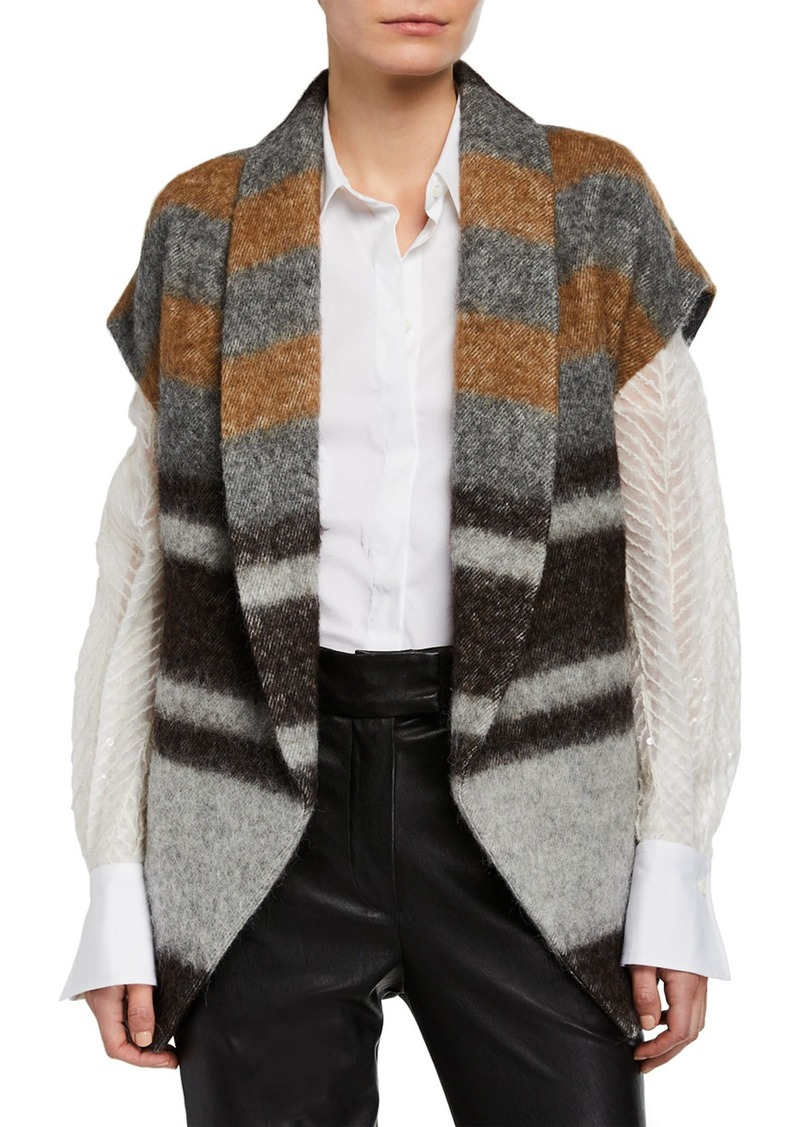 Brunello Cucinelli Striped Wool-Alpaca Vest