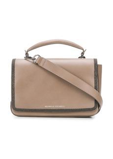 Brunello Cucinelli stud-embellished leather satchel