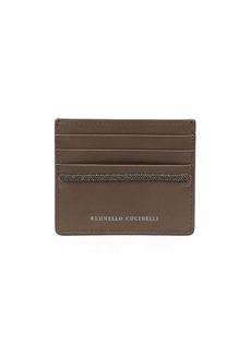 Brunello Cucinelli bead-embellished cardholder