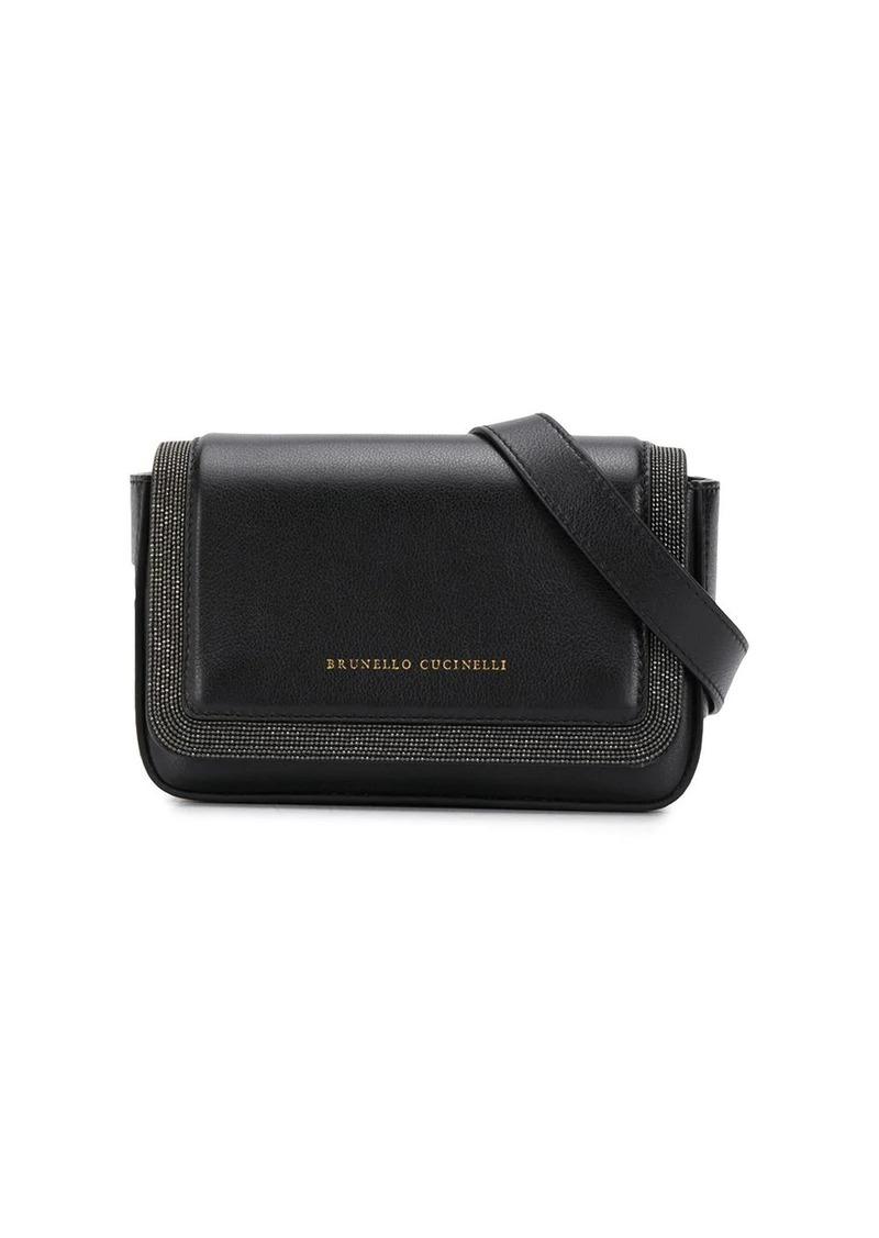 Brunello Cucinelli studded logo belt bag