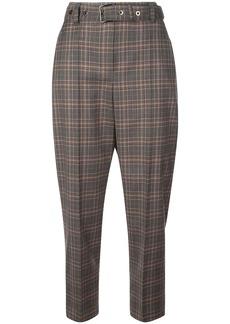 Brunello Cucinelli tapered check trousers