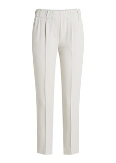 Brunello Cucinelli Tapered Pants with Silk