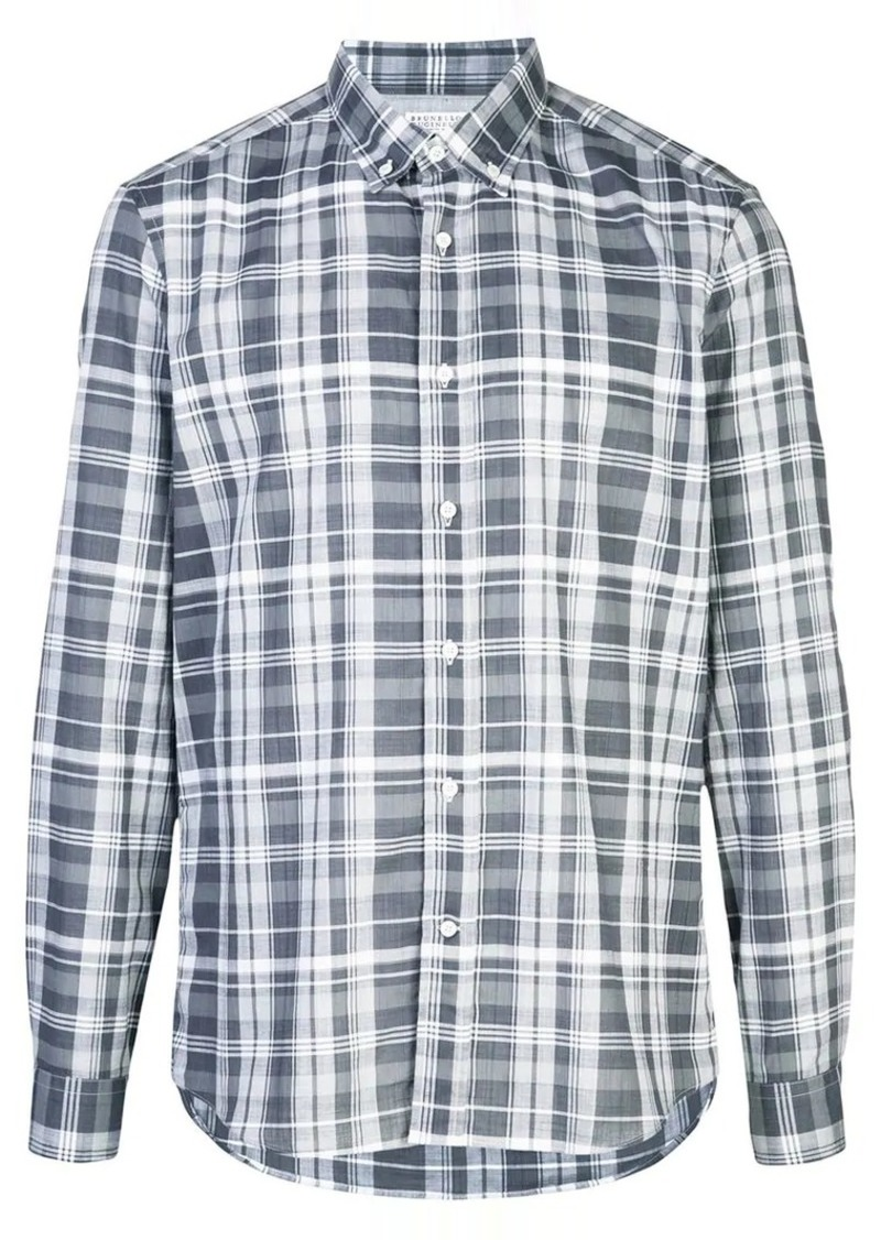 Brunello Cucinelli tartan pattern shirt
